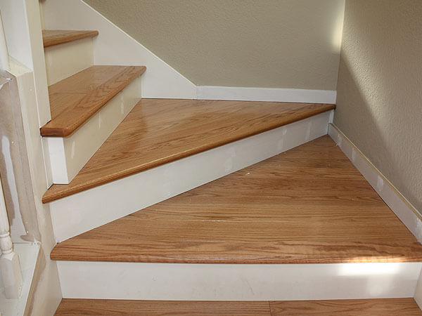 Hardwood Floor Stair Inlays San Mateo